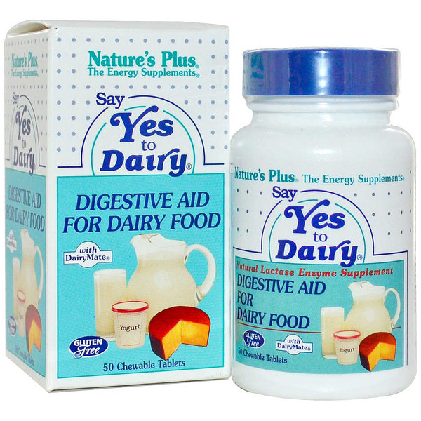 Natures Plus Say Yes To Dairy (Chewables), 50 tabs.