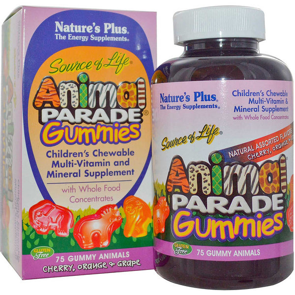 Natures Plus Source of Life Animal Parade Gummies (Assorted), 75 gummies
