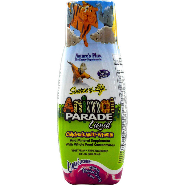 Natures Plus Source of Life Animal Parade Liquid - Tropical Berry (Travel Size), 236.56 ml