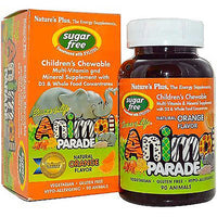 Natures Plus Source of Life Animal Parade Multi-Vitamin & Mineral - Orange (Sugar-Free), 90 tabs.