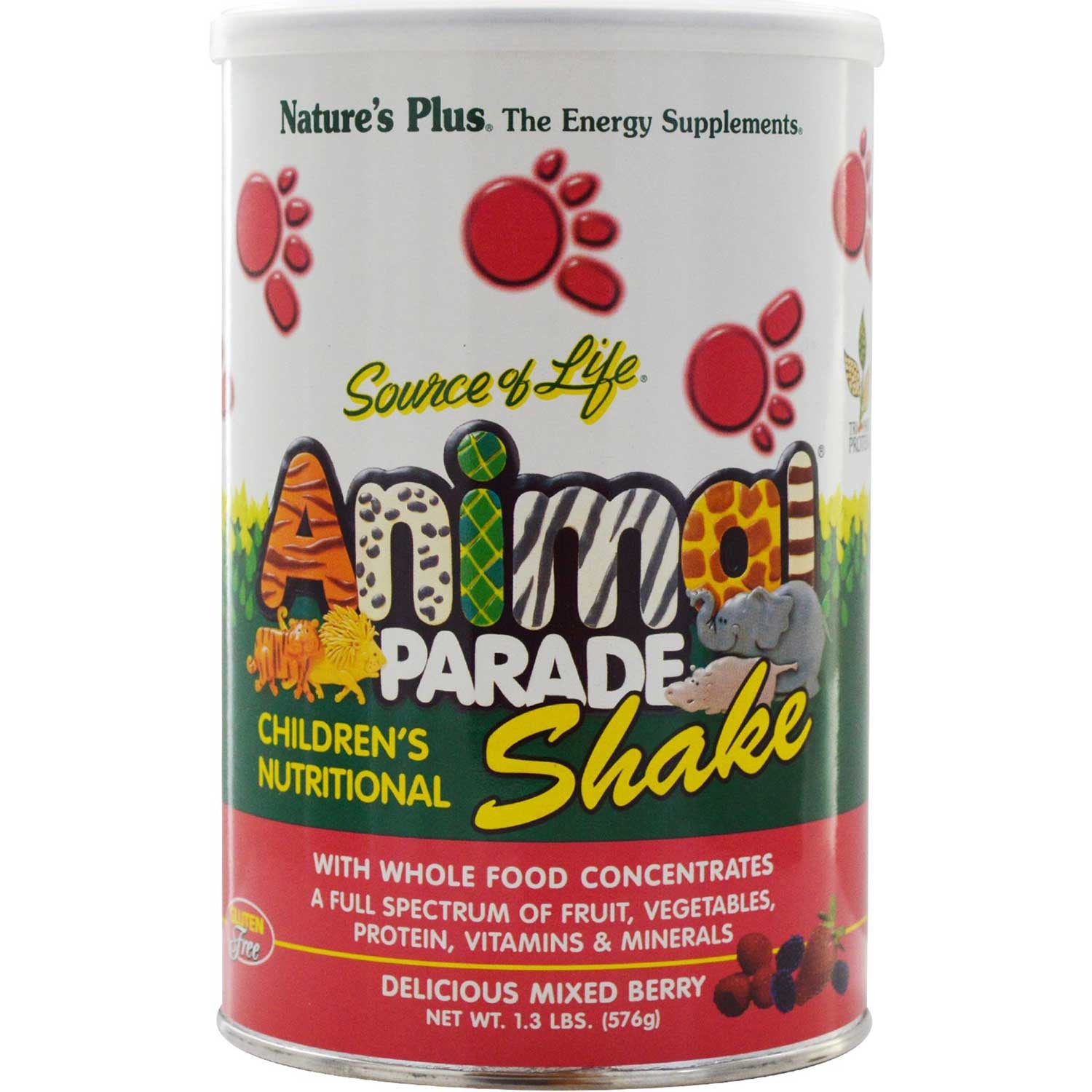 Natures Plus Source of Life Animal Parade Shake (Mixed Berry), 576 g