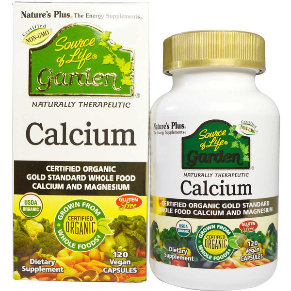 Natures Plus Source of Life Garden Calcium w/AlgaeCal , 120 vcaps.