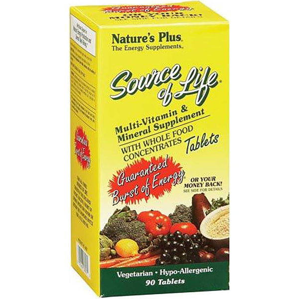 Natures Plus Source of Life Multi-Vitamin & Mineral, 90 tabs.