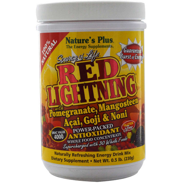 Natures Plus Source of Life Red Lightning - Energy Drink Powder, 230 g