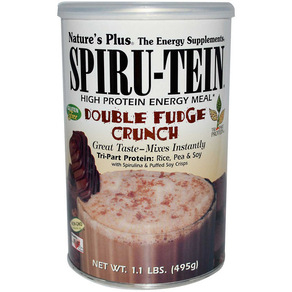 Natures Plus Spiru-Tein Shake - Double Fudge Crunch, 495 g