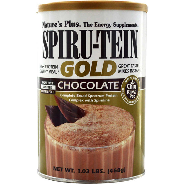 Natures Plus Spiru-tein Gold Shake - Chocolate, 468 g