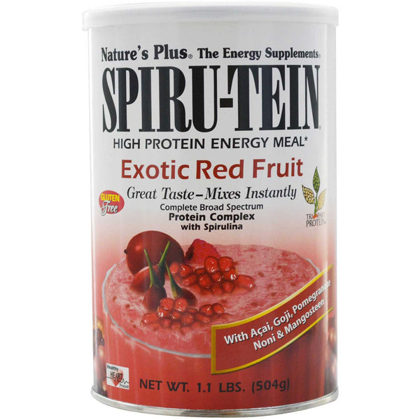 Natures Plus Spiru-tein Shake - Exotic Red Fruit, 504 g
