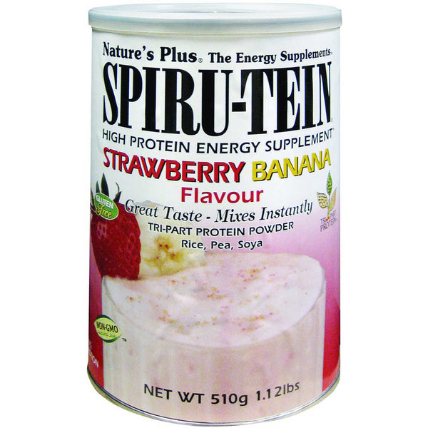 Natures Plus Spiru-tein Shake - Strawberry Banana, 510 g