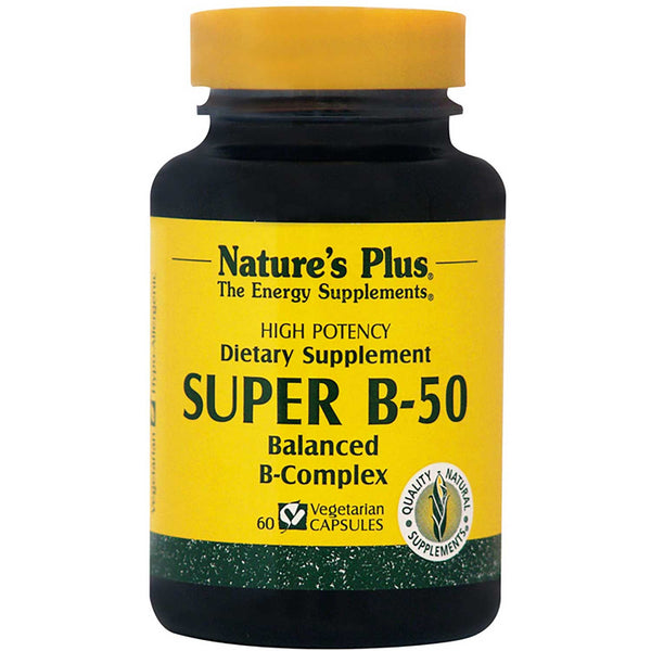 Natures Plus Super B-50 (Vcaps), 60 caps.