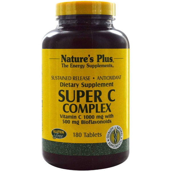 Natures Plus Super C Complex Sustained Release, 180 tabs.