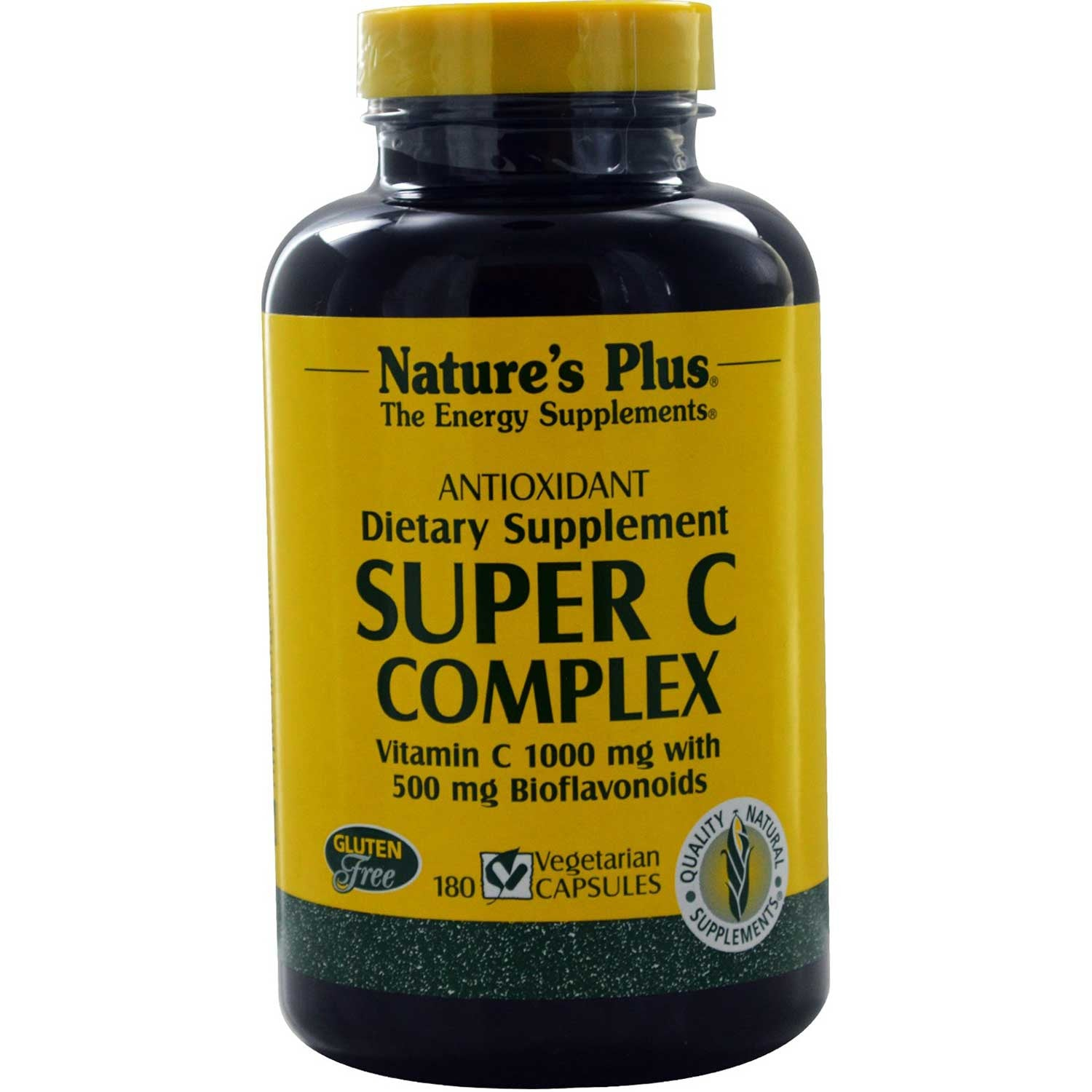 Natures Plus Super C Complex (Vcaps), 180 caps.-NaturesWisdom