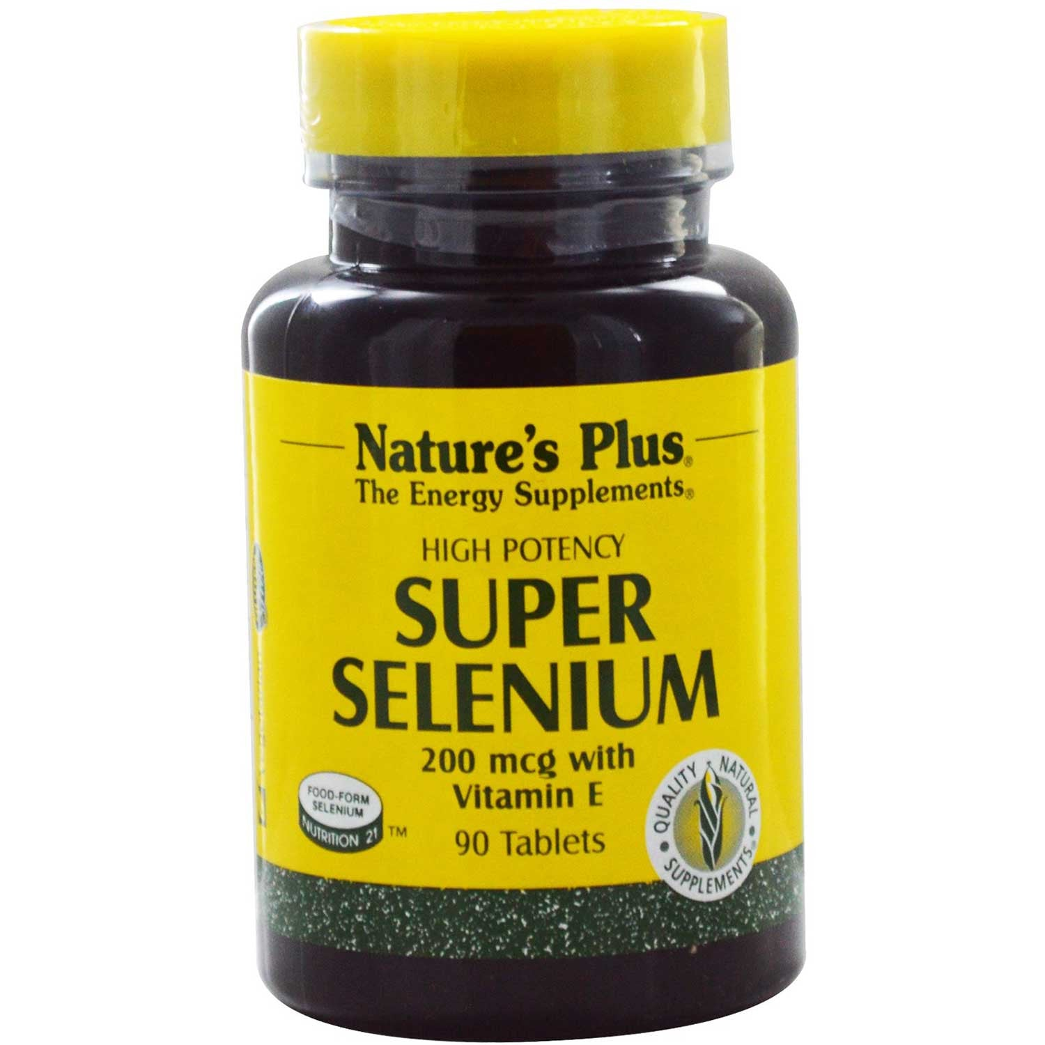 Natures Plus Super Selenium Complex w/ Vitamin E, 90 tabs-NaturesWisdom