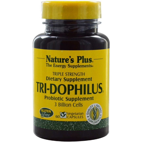 Natures Plus Tri-Dophilus (Vcaps), 60 caps.