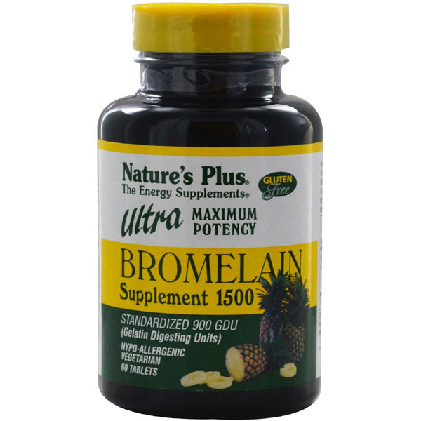 Natures Plus Ultra Bromelain 1500, 60 tabs.