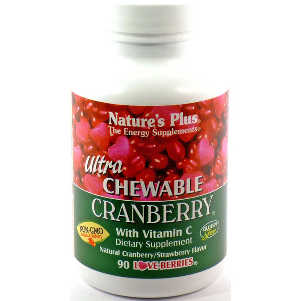 Natures Plus Ultra Cranberry Chewable, 90 tabs.