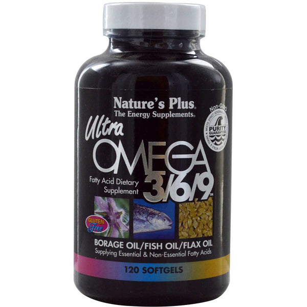 Natures Plus Ultra Omega 3/6/9 1200 mg, 120 sgls.
