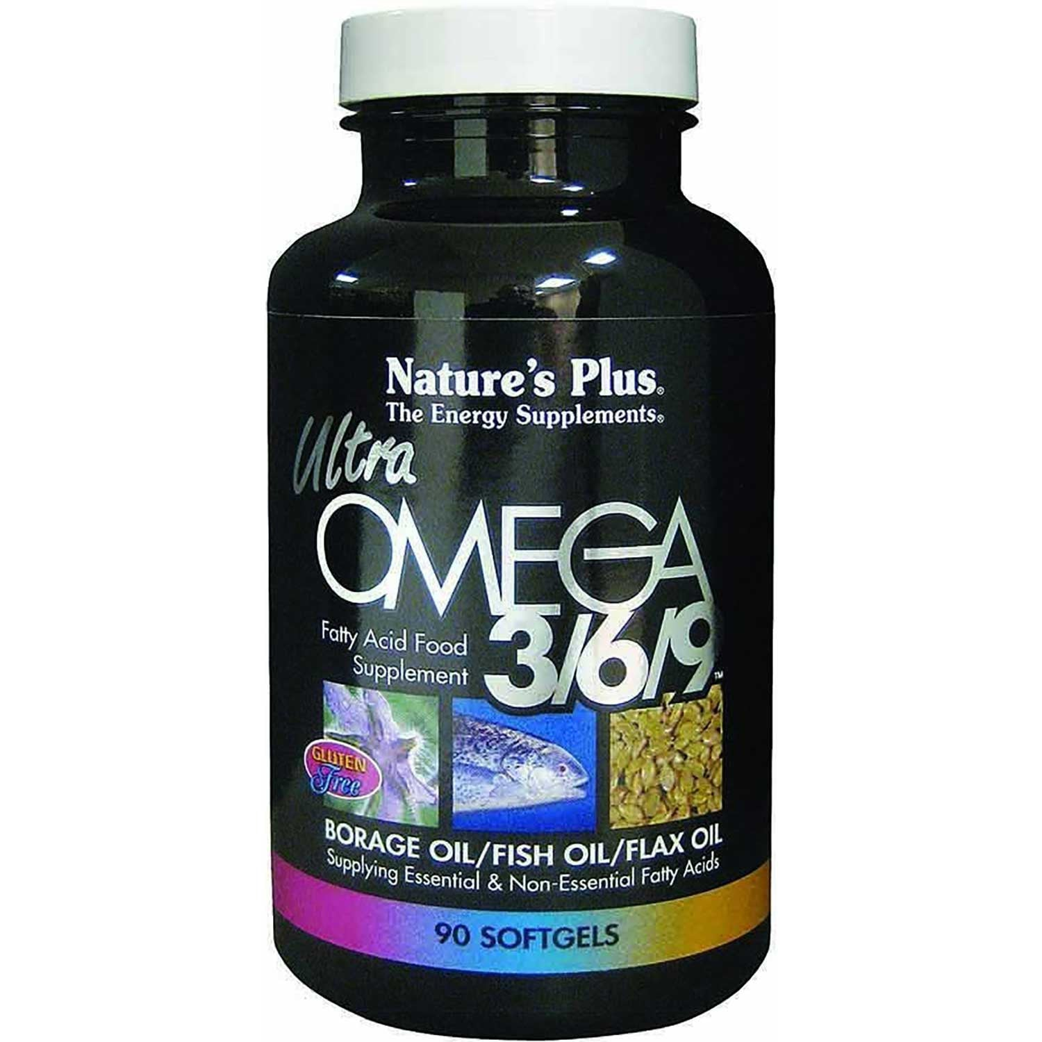 Natures Plus Ultra Omega 3/6/9 1200 mg, 90 sgls.-NaturesWisdom