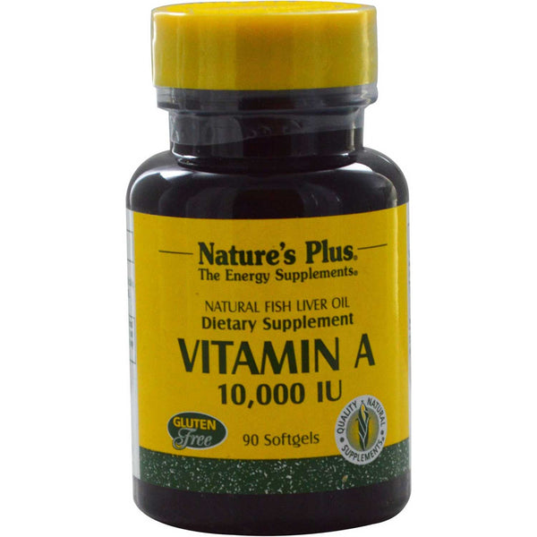 Natures Plus Vitamin A 10000 IU, 90 sgls.