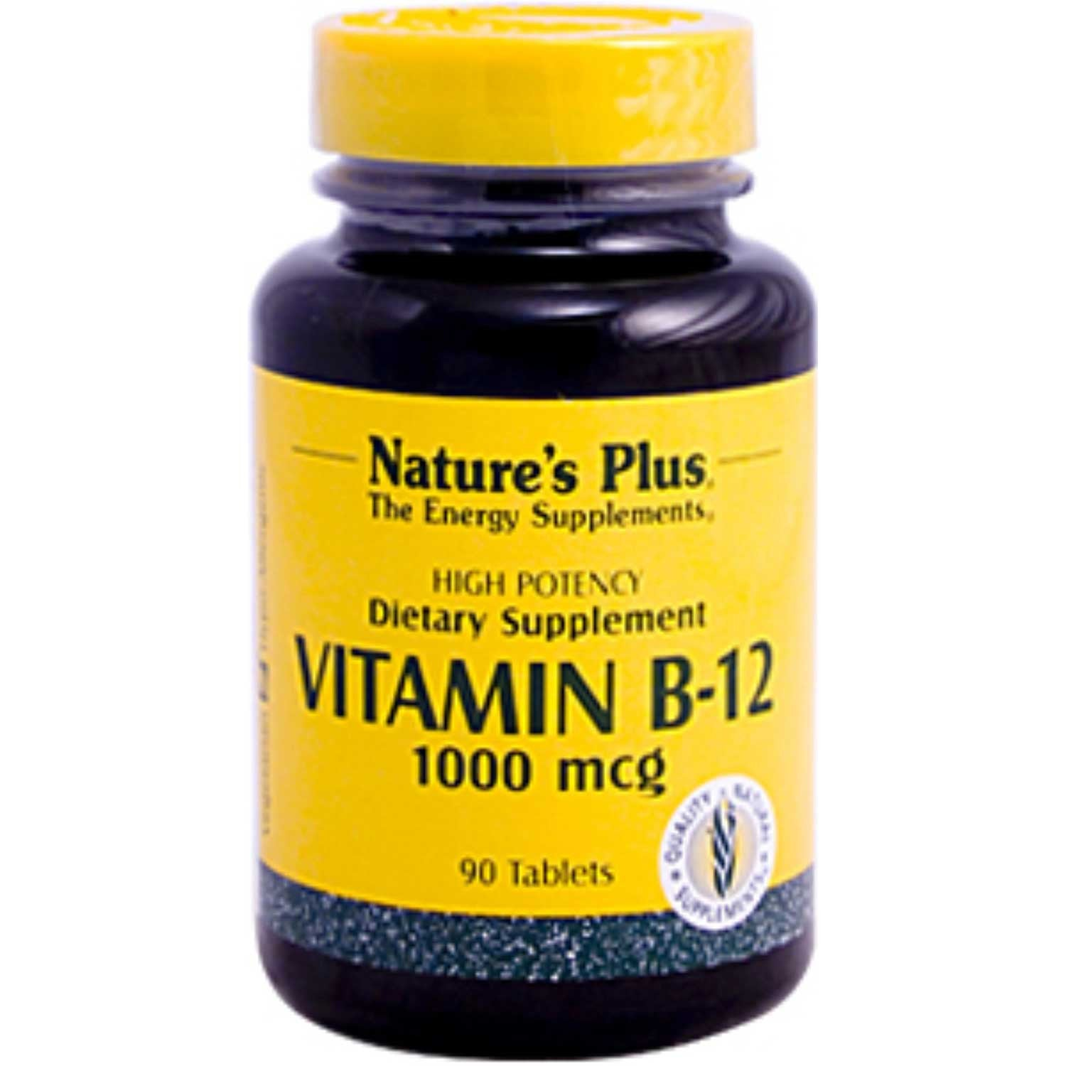 Natures Plus Vitamin B-12 1000 mcg, 90 tabs.-NaturesWisdom