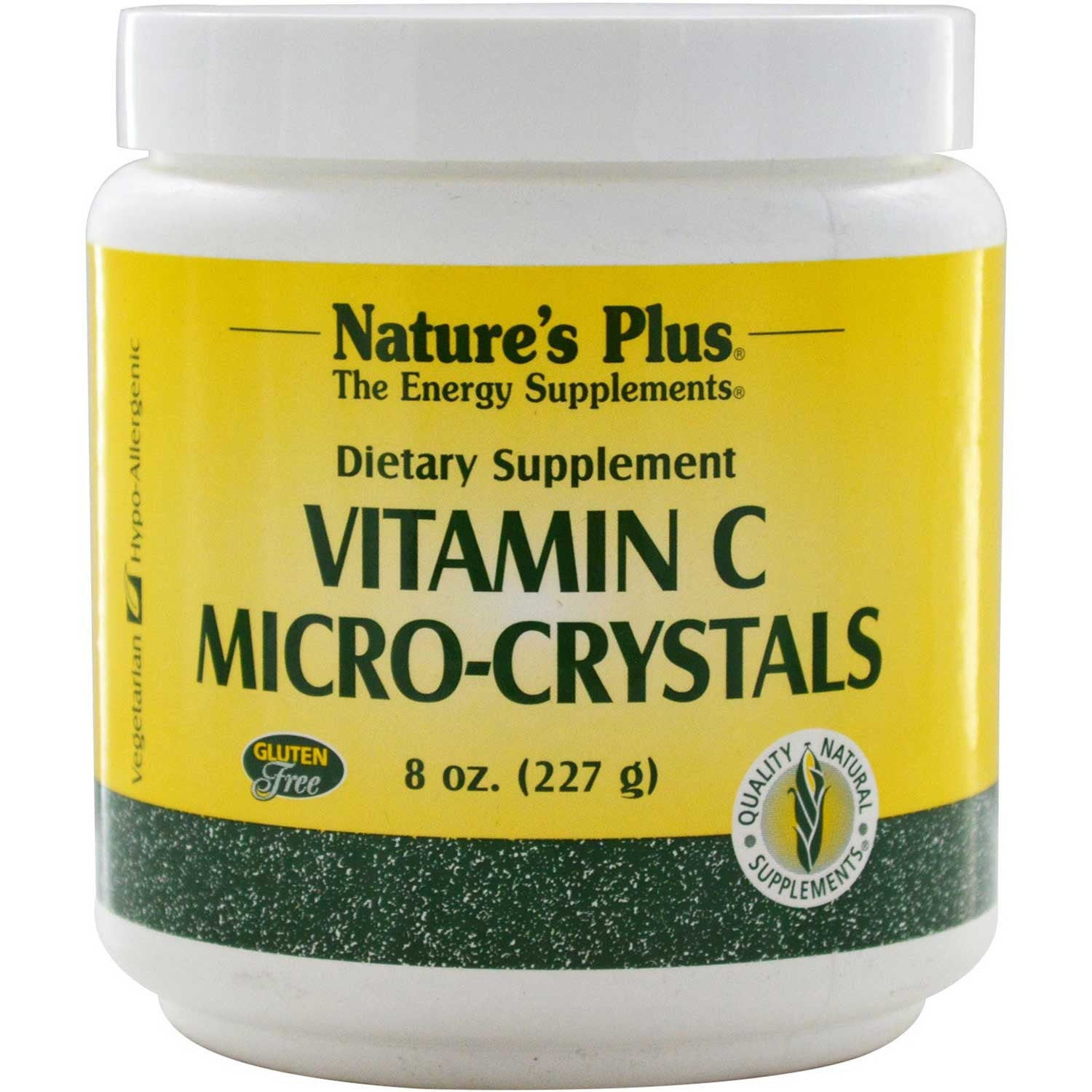Natures Plus Vitamin C Micro-Crystals, 227 g-NaturesWisdom