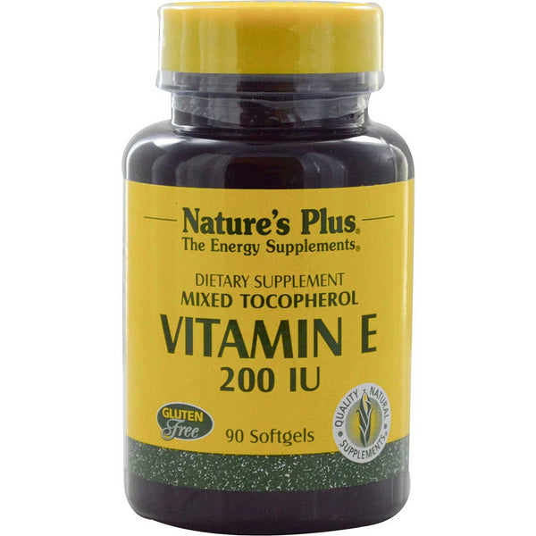 Natures Plus Vitamin E 200 IU Mixed Tocopherols, 90 sgls.