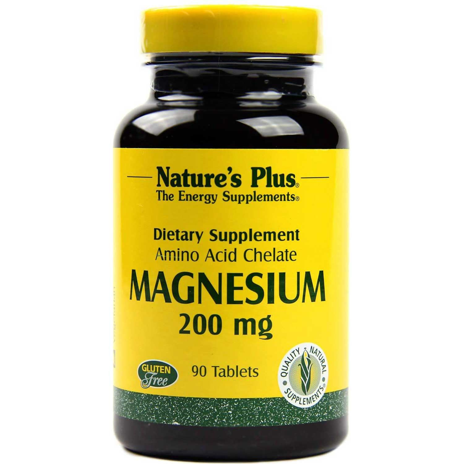 Natures plus Magnesium (Biotron Amino Acid Chelate) 200 mg, 90 tabs.
