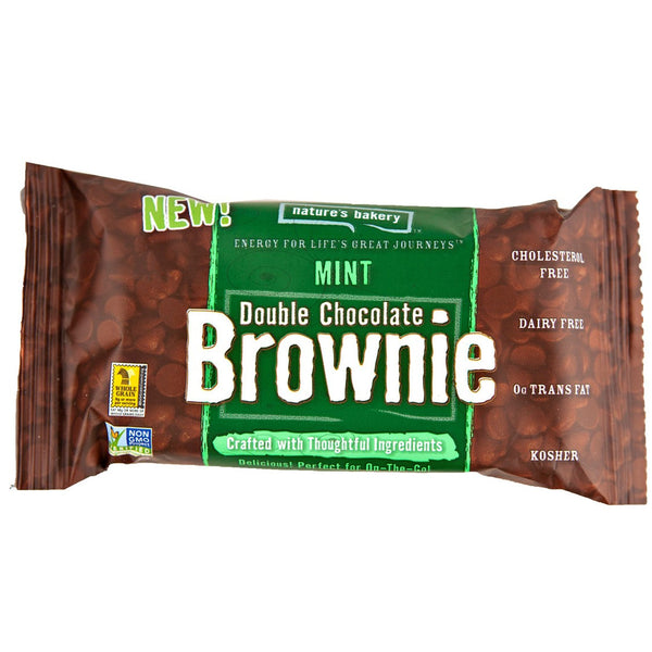 Nature's Bakery Double Chocolate Brownie Mint Bar (Whole Wheat), 57g.