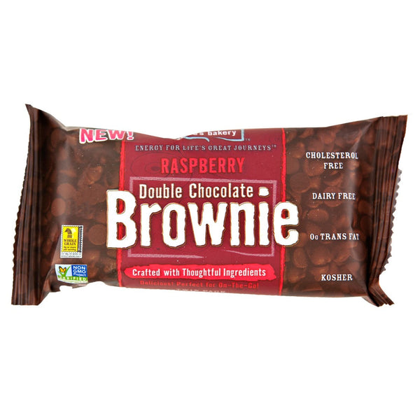 Nature's Bakery Double Chocolate Brownie Raspberry Bar (Whole Wheat), 57g.
