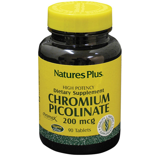 Natures Plus Chromium Picolinate 200 mcg, 90 tabs.