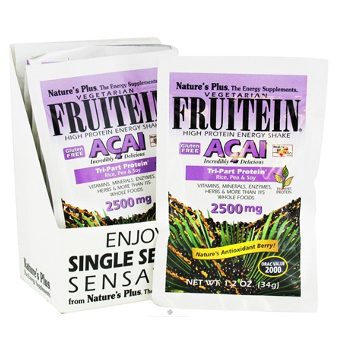 Natures Plus Fruitein Acai Shake Single Serving Packet, 34 g-NaturesWisdom