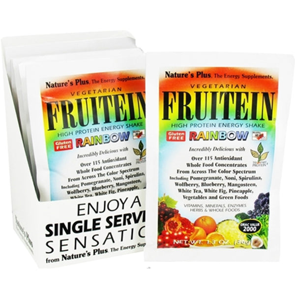 Natures Plus Fruitein Rainbow Shake, Single Serving Packet, 36 g
