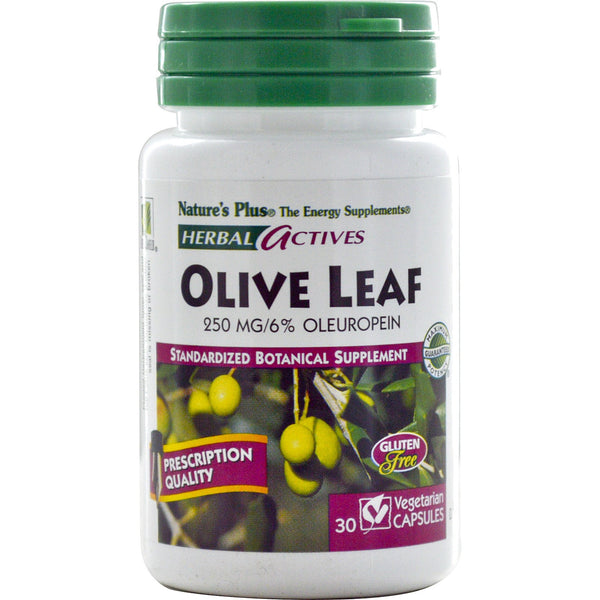 Natures Plus HerbalActives Olive Leaf 250 mg (Vcaps), 30 caps.