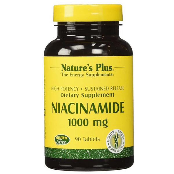 Natures Plus Niacinamide 500 mg, 90 tabs.