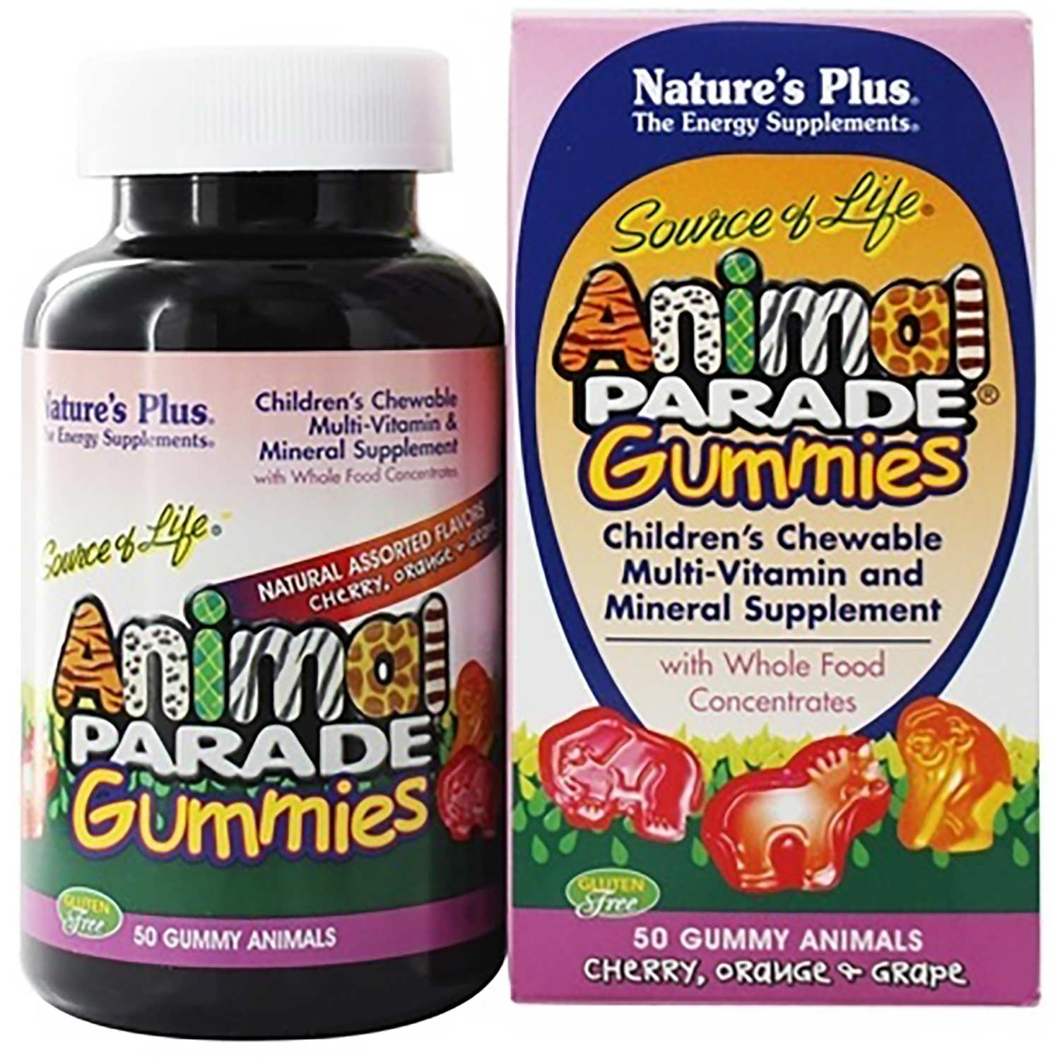 Natures Plus Source of Life Animal Parade Gummies (Assorted), 50 gummies
