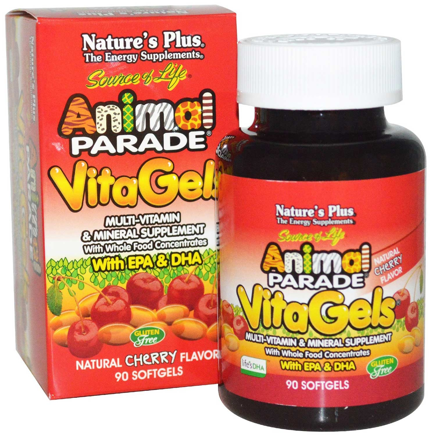 Natures Plus Source of Life Animal Parade VitaGels w/EPA & DHA, 90 sgls.