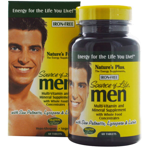 Natures Plus Source of Life Men Multi-Vitamin & Mineral, 60 tabs.