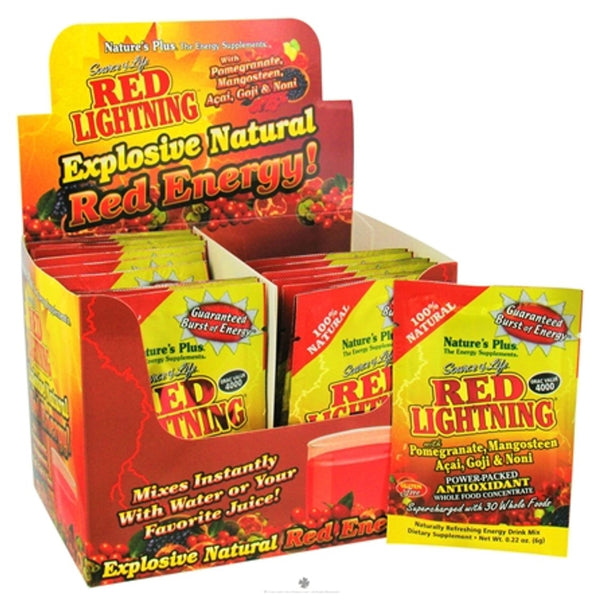 Natures Plus Source of Life Red Lightning Powder Single Serve, 6 g