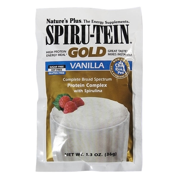 Natures Plus Spiru-Tein Gold Shake - Vanilla, Single Serving Packet, 36 g