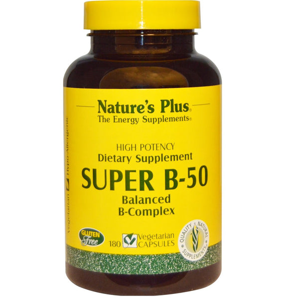 Natures Plus Super B-50 (Vcaps), 90 caps.