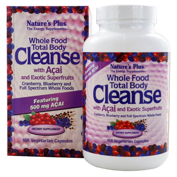 Natures Plus Whole Food Total Body Cleanse w/Acai & Exotic Super Fruits (Vcaps), 168 caps.
