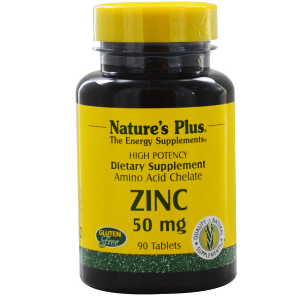Natures Plus Zinc 30 mg (Biotron Amino Acid Chelate), 90 tabs.