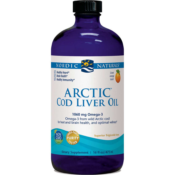 Nordic Naturals Arctic Cod Liver Oil - Orange, 473 ml.