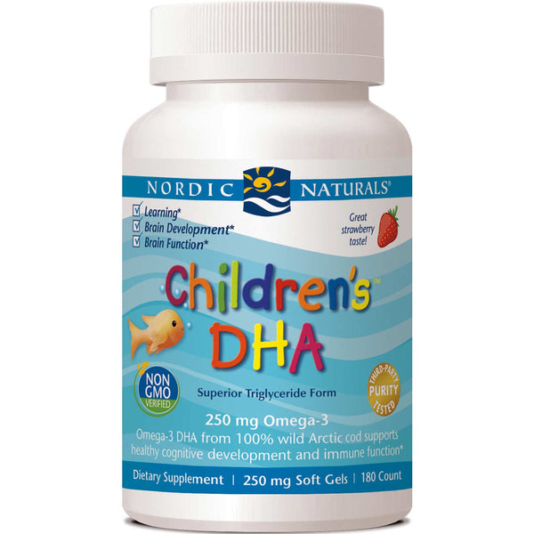 Nordic Naturals Children's DHA 250 mg - Strawberry, 180 sgls.