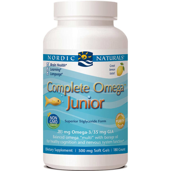 Nordic Naturals Complete Omega Junior 500 mg - Lemon, 180 sgls.