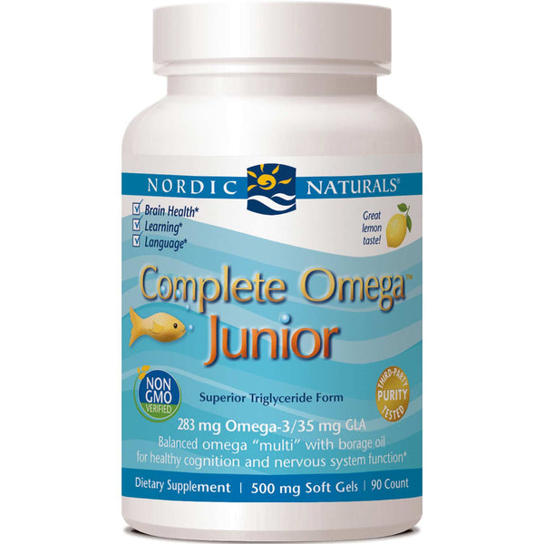 Nordic Naturals Complete Omega Junior 500 mg - Lemon, 90 sgls.