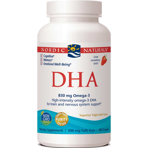 Nordic Naturals DHA 500 mg - Strawberry, 180 sgls.