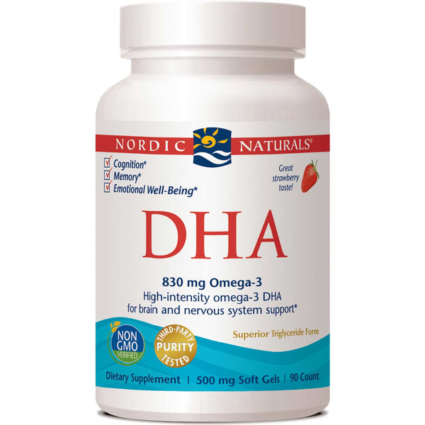 Nordic Naturals DHA 500 mg - Strawberry, 90 sgls.