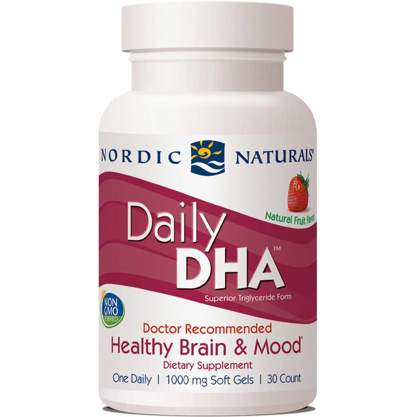 Nordic Naturals Daily DHA - Strawberry, 30 sgls.