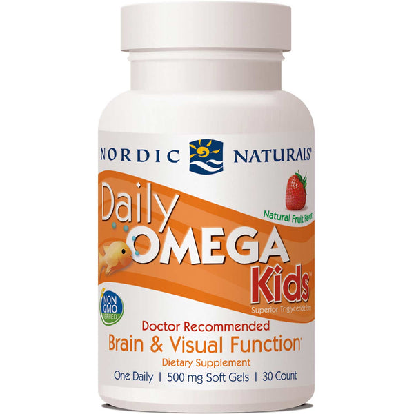Nordic Naturals Daily Omega Kids - Strawberry, 30 sgls.