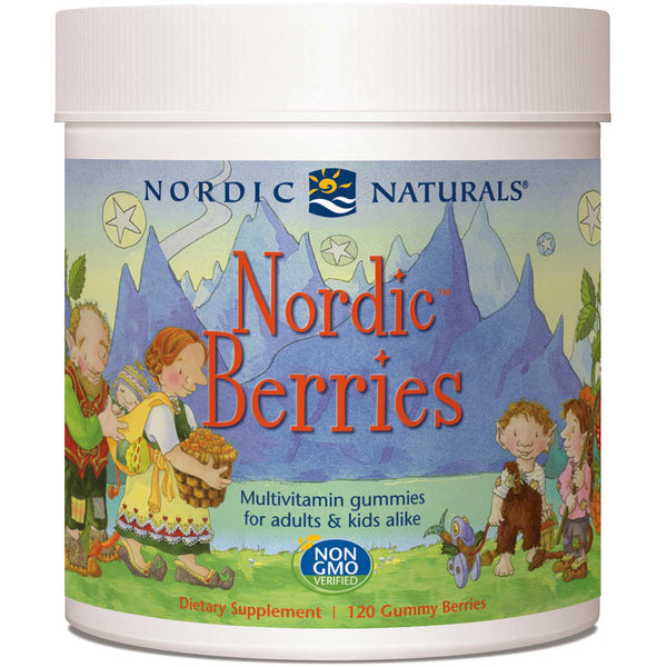 Nordic Naturals Nordic Berries Multivitamin Gummies - Citrus, 120 berries.